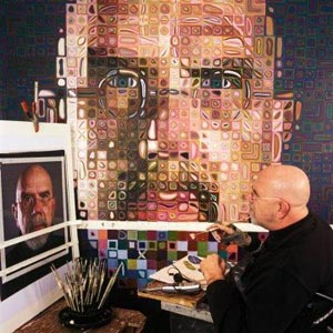 Chuck Close at Work
